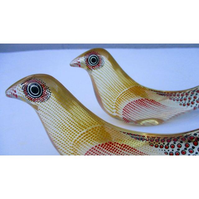 Yellow Abraham Palatnik Lucite Kinechromatic Dove Bird Sculpture - a Pair Op Art For Sale - Image 8 of 11