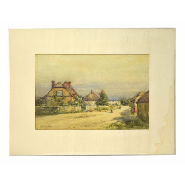 Early 20th Century Antique Alexander MacBride British Village Watercolor Painting For Sale - Image 10 of 10