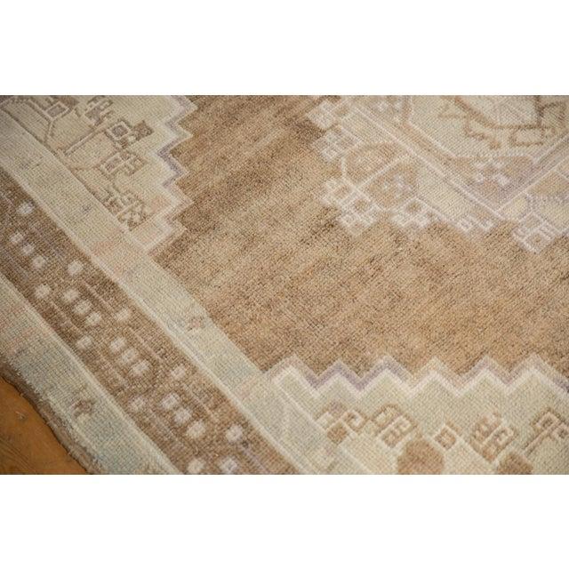 "Brown Vintage Distressed Oushak Carpet - 5'7"" X 8'3"" For Sale - Image 8 of 11"