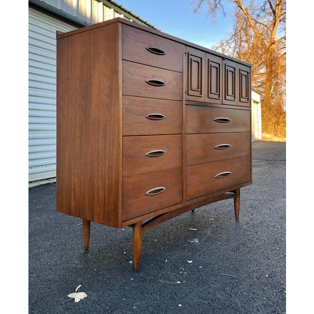 Broyhill Sculptra Magna Chest. Tons of storage. Super clean. Walnut exteriors, ash and mahogany interiors. Heavy, well...