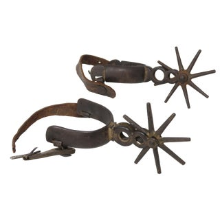 19th Century Southwestern Working Cowboy Ranch Spurs - a Pair For Sale