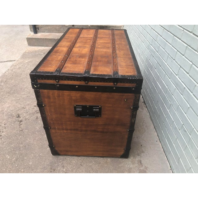 Brown 1910s French Louis Vuitton Steamer Trunk For Sale - Image 8 of 13