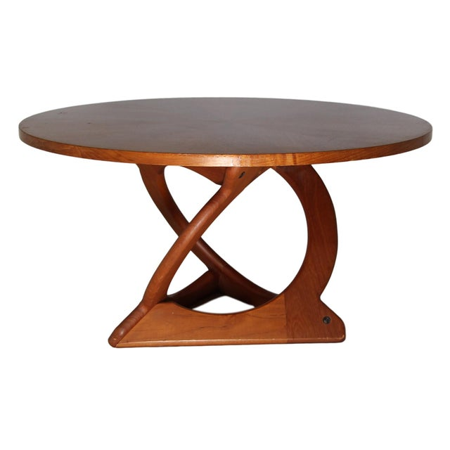 Truly stunning mid century teak coffee table. Designed by Danish designer Søren Georg Jensen and made by Kubus. Sculptural...