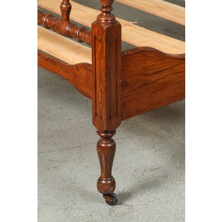 1930s Walnut Spindle Full Sized Bed Frame, Newly Polished Preview