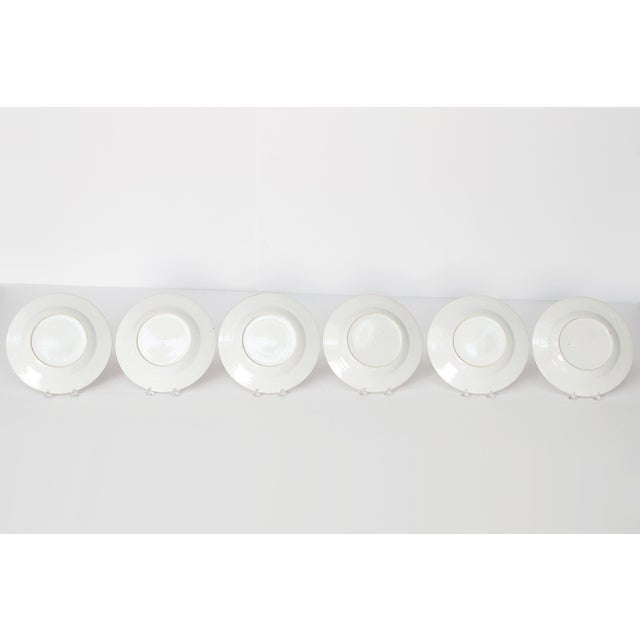 Early 19th Century Chinese Porcelain Plates Set of Six For Sale - Image 11 of 13
