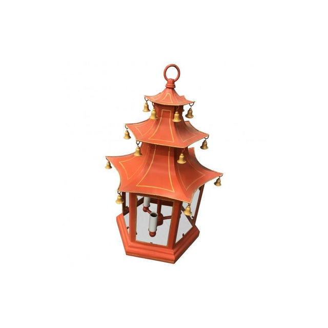 Three-Tier Pagoda Top Tole Lantern - Image 2 of 5