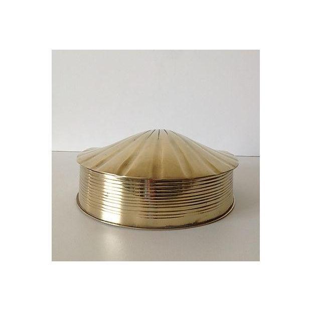 Brass Fanned Shell-Shaped Keepsake Box - Image 7 of 8