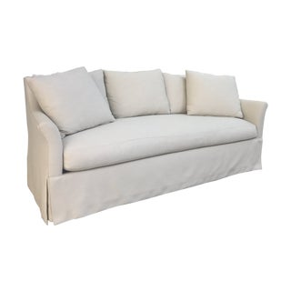 Contemporary White Custom Upholstered Sofa For Sale