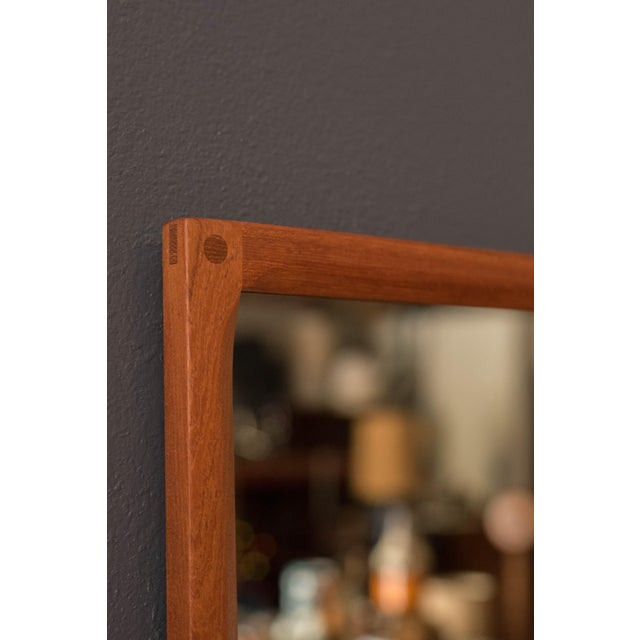 Mid-Century Modern Vintage Danish Teak Hanging Wall Mirror by Aksel Kjersgaard For Sale - Image 3 of 9