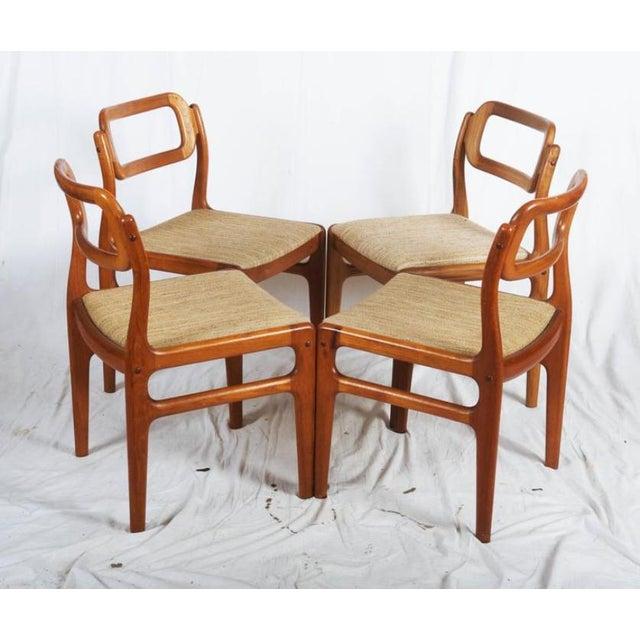Danish Teak Chairs by Uldum Møbelfabrik, 1960s - Set of 4 For Sale - Image 10 of 11