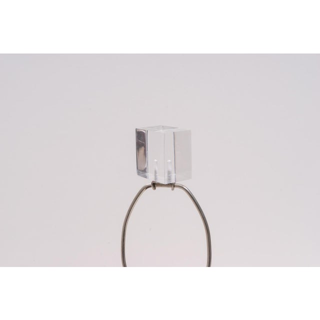 This stylish and chic pagoda-form Lucite table lamp dates to the 1970s-1980s and will make the perfect piece for your...