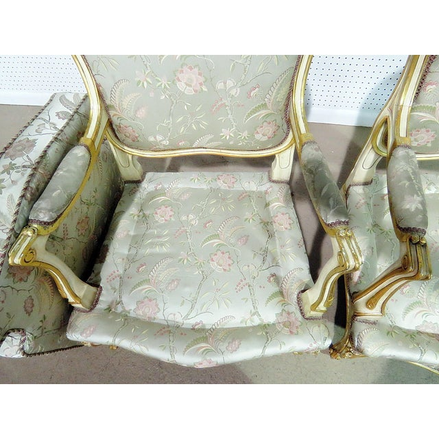 Pair of Louis XV Style Fauteuils For Sale - Image 9 of 13