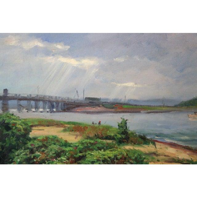 Caddell Martha's Vineyard Scene Painting For Sale - Image 4 of 8