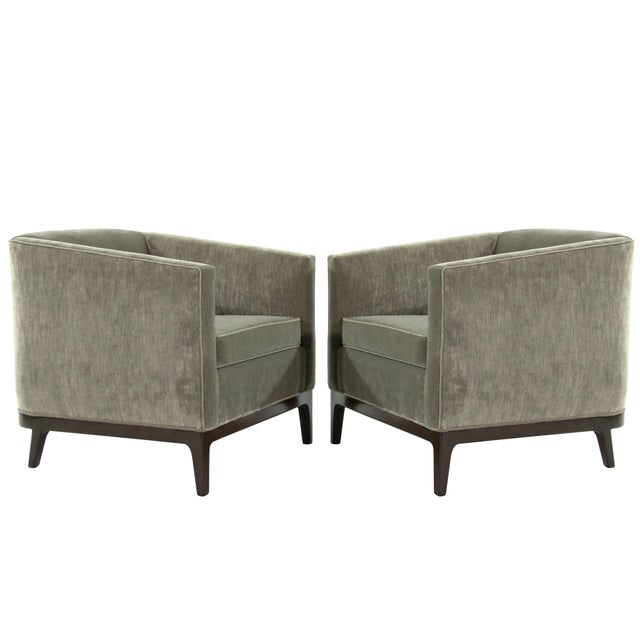 Mid-Century Modern Tub Chairs in Chenille For Sale - Image 12 of 12
