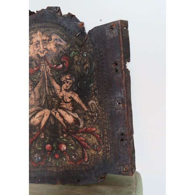 Pair of 19th C. Spanish Leather Panels For Sale In Los Angeles - Image 6 of 10
