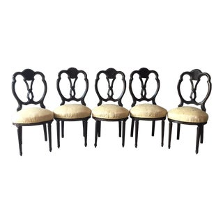 Late 19th Century French Louis XVI Dining Room Chairs - Set of 5 For Sale
