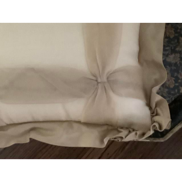 French Provincial Custom Golden Silk and Taffeta Pillow For Sale - Image 3 of 7