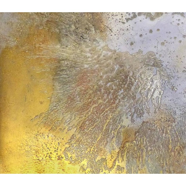 """Red Contemporary Abstract Titled """"Asteroid"""" by Brazilian Artist Andre Brandao For Sale - Image 8 of 10"""