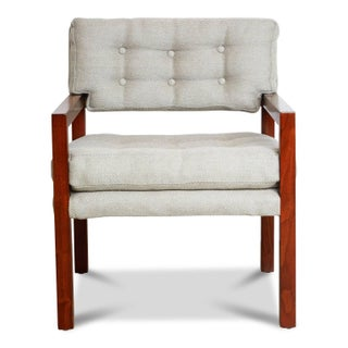 Pair of Mid-Century Modern Walnut Framed Armchairs, Restored, Circa 1960 Preview