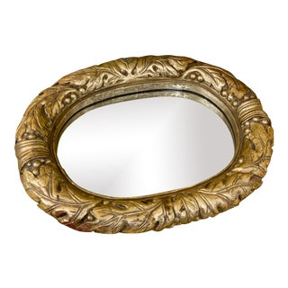 Gold Oval Mirror/Perfume Tray For Sale