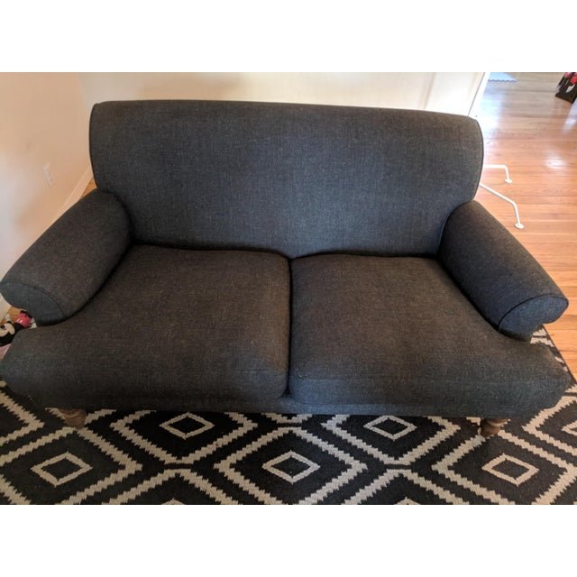 Made to order in London, UK, this is an extremely comfortable sofa with hypoallergenic seat cushions (no feathers) and...
