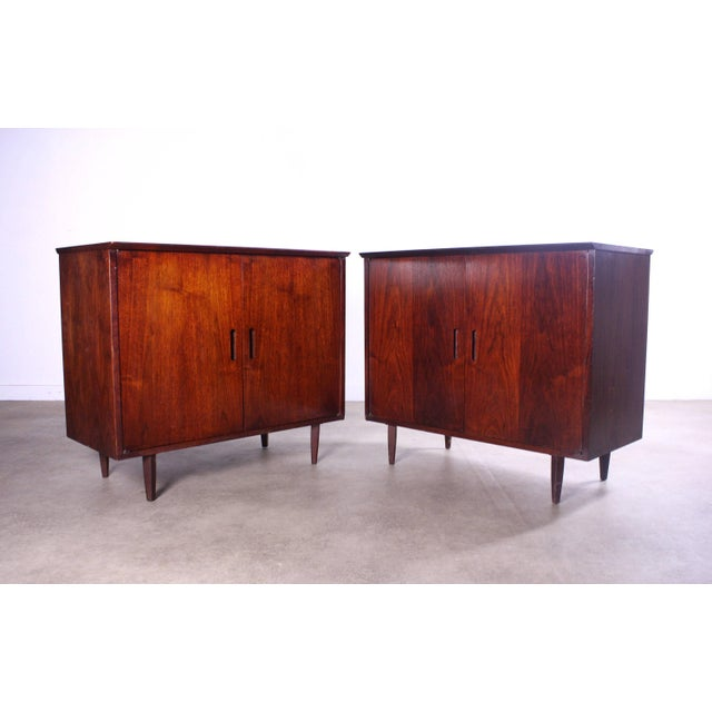Intense Matching Pair of Arne Vodder Cabinets For Sale In Orlando - Image 6 of 12