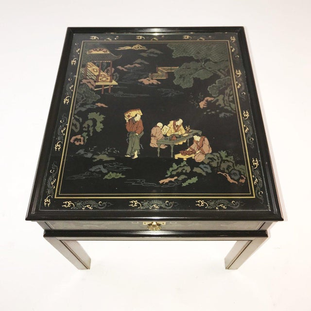 Drexel Heritage Drexel Heritage Chinoiserie Chippendale Side Table For Sale - Image 4 of 12