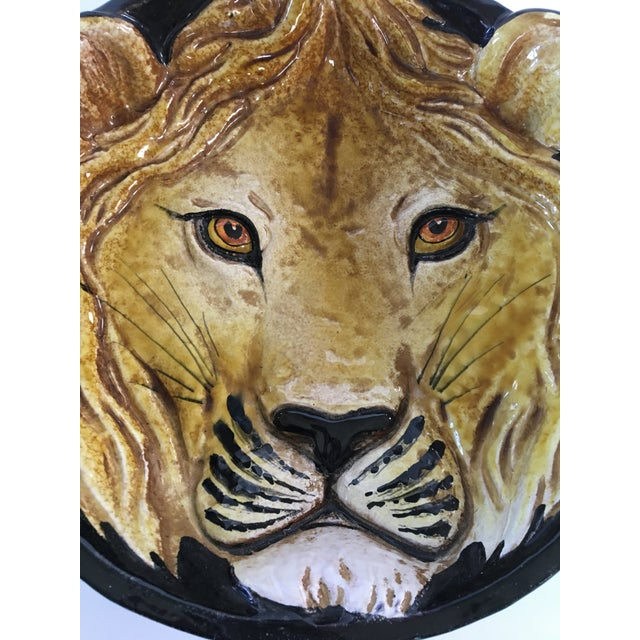 Mid-Century Italian Hollywood Regency Lion Decorative Bowl/Catchall For Sale - Image 9 of 11
