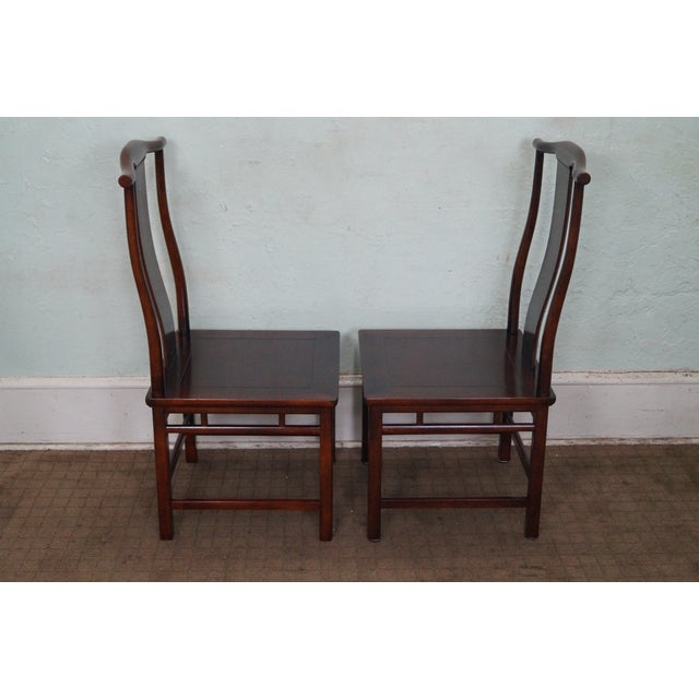 Baker Asian Mahogany Dining Chairs - Set of 8 - Image 3 of 10