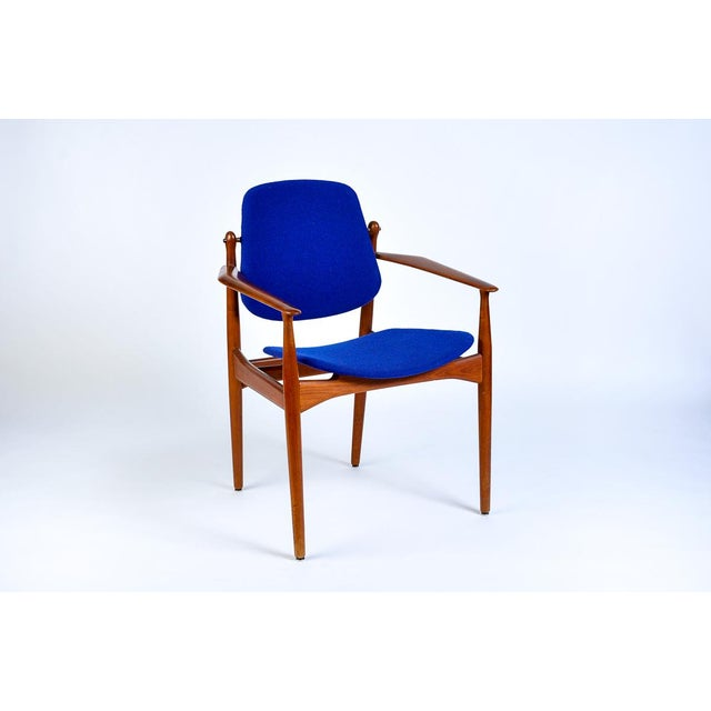Textile Danish Modern Arne Vodder Arm Chair For Sale - Image 7 of 7