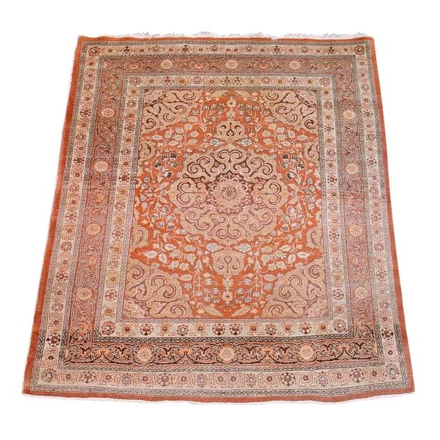 Tabriz Scatter Rug in Subtle Soft Colors For Sale