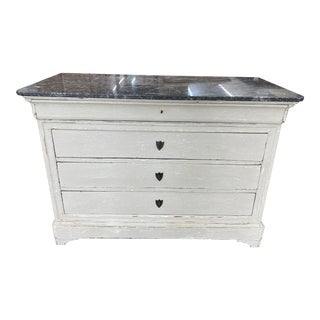 Mid 19th Century Painted French Louis Philippe Commode, 1860 For Sale