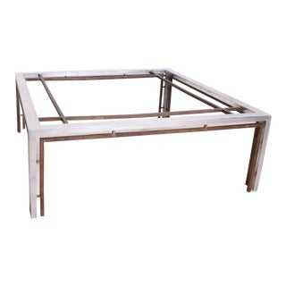 Mid-Century Mexican Modernist Large Aluminum Bronze Coffee Table Attr. Arturo Pani For Sale