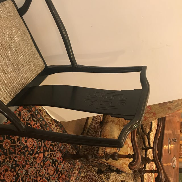 Mid-Century Modern Asian Style Armchairs - A Pair For Sale - Image 9 of 12