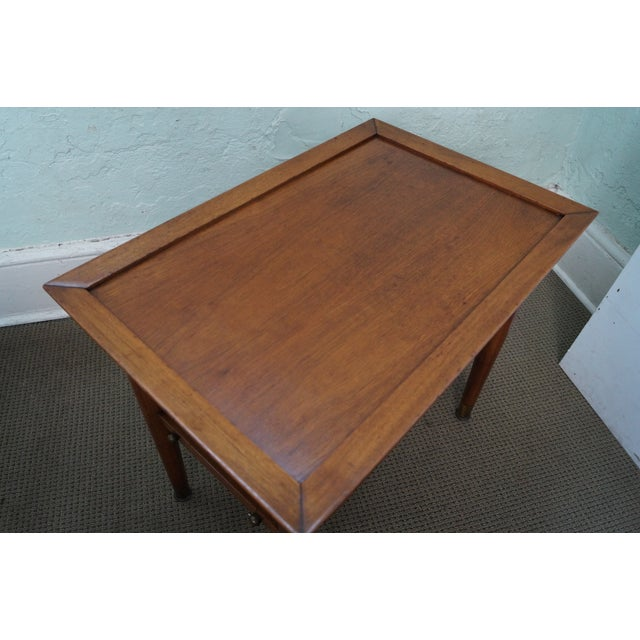 Mid-Century Walnut Side Tables - A Pair - Image 8 of 9