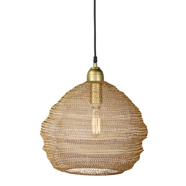 Copper Mesh Pendant from Kenneth Ludwig Home For Sale In Chicago - Image 6 of 6