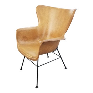 Lawrence Peabody for Selig Fiberglass Shell Arm Chair For Sale