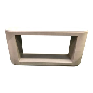 Contemporary Style Gray Console Table For Sale