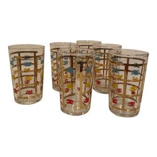 Vintage Federal Juice Glasses - Set of 6 For Sale