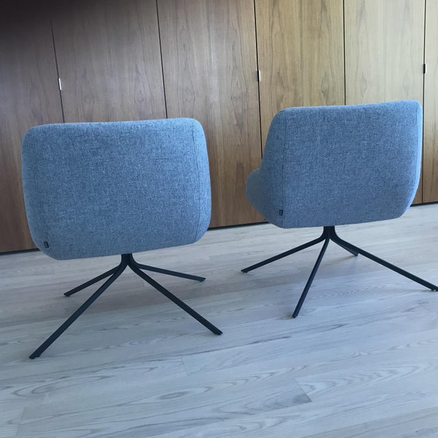 Palau Blue Swivel Chairs - A Pair - Image 4 of 8