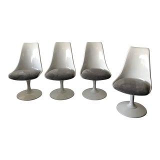 Mid-Century Restored Saarinen Style Tulip Chairs - Set of 4