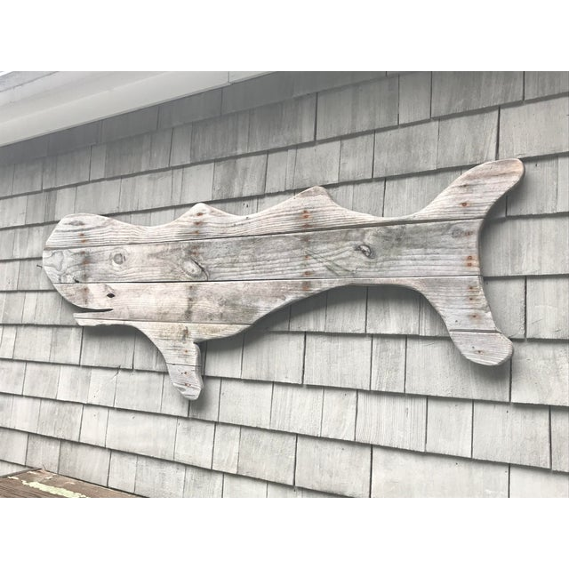 Nautical Driftwood Whale Hand Made by John Scarola For Sale - Image 3 of 5