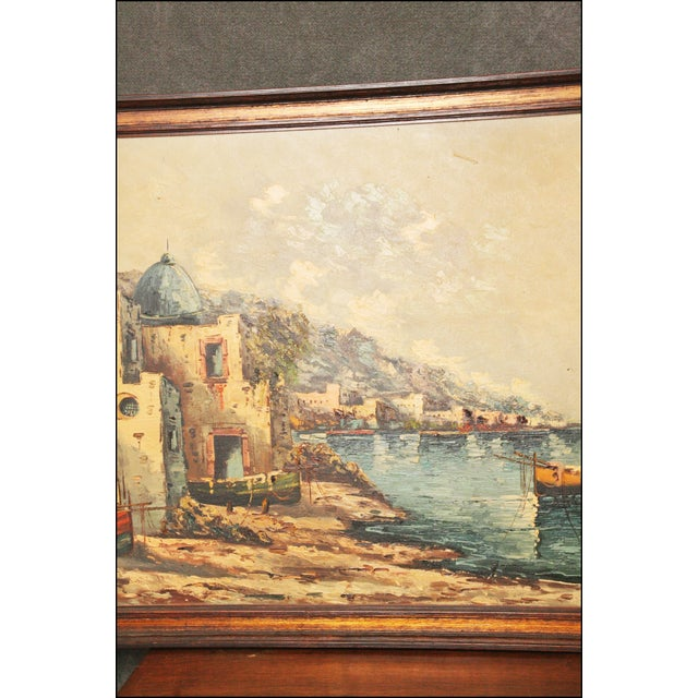 Vintage Impressionist Oil Painting of European Seascape - Image 6 of 11