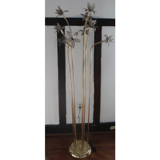 Vintage Mid-Century Modern Lotus Floor Lamp For Sale - Image 4 of 10