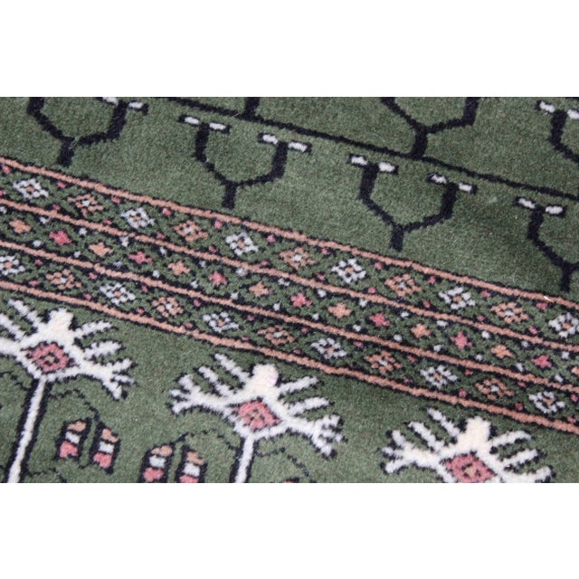 Hand-Knotted Pakistan Bokhara Rug For Sale - Image 4 of 9