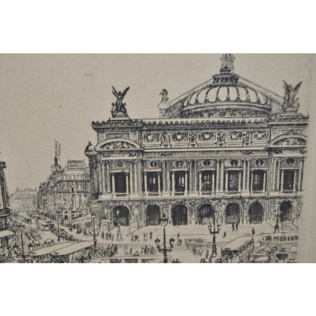 "Paris Opera House ""Palais Garnier"" Etching by Kelly c.1920s - Image 5 of 5"