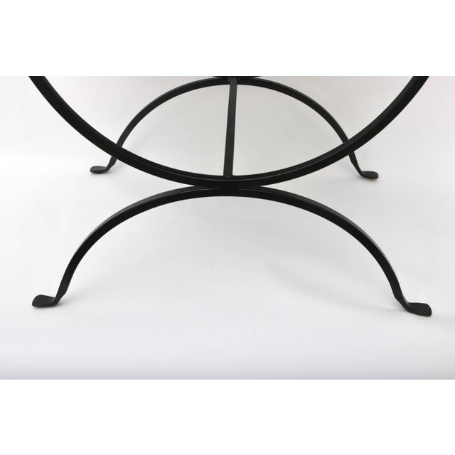Late 20th Century Mid-Century Modern Iron Benches - a Pair For Sale - Image 5 of 8