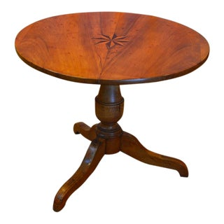 19th Century Biedermeier Breakfast Table with Tilt Top For Sale