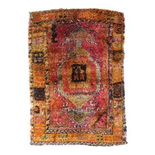 Vintage Abstract Anatolian Rug For Sale