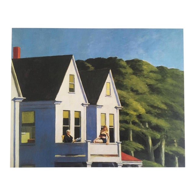"Edward Hopper Vintage 1999 Lithograph Calendar Print "" Second Story Sunlight "" 1960 For Sale"
